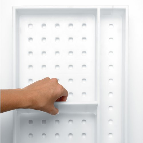 Adjustable White Drawer Organizer