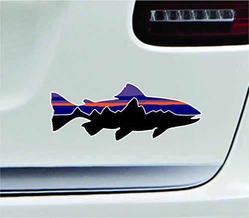 Patagonia fish 7 39 39 mudder car symbol sticker decal die cut for Patagonia fish sticker