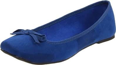 Wanted Shoes Women's Rialto Ballerina Flat,Blue,10 M US