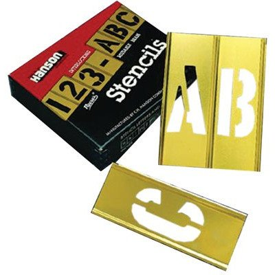 45 Piece Letter & Number Sets - 2'' 45pc letter & numberstencil set brass by C.H. Hanson