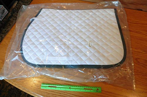 NEW Dover Saddlery Horse Saddle Pad quilted equestrian riding pad white equine