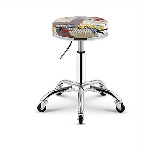 C Bar Stool Wrought Iron Retro Pulley Stool Beauty Stool Massage Physiotherapy Stool Stool Stool Makeup Nail Salon Chair,A