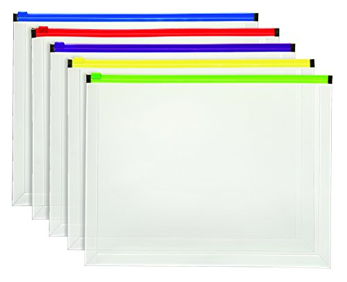 Staples Poly Zip Envelopes, Assorted Color Zip, Letter Size Photo #2