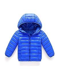 AMSKY Baby Girl Boy Kids Cotton Jacket Coat Hooded Fur Down Jacket Autumn Winter Warm Children Clothes Outwear
