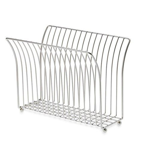 Taymor® Steel Magazine Rack in Satin Nickel ()