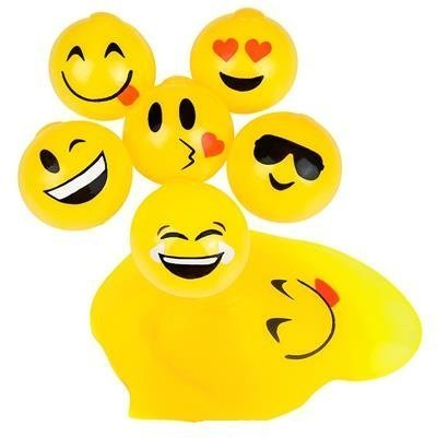 Emoji Squishy Splat Ball Pack (1 Dozen Splat Balls) by happy deals (Splat Toys)