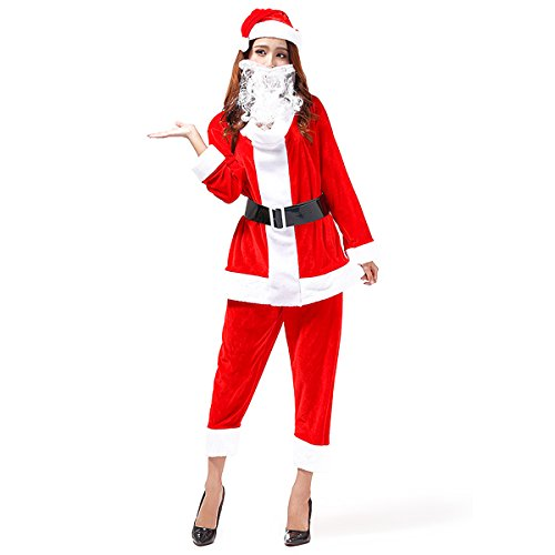Veroman Men's Christmas Santa's Costume (unisex) (Costume Ideas For Men With Beards)