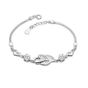 amazoncom 925 sterling silver bracelet for women crystal