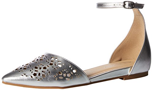 CL by Chinese Laundry Women's Hello Ballet Flat, Silver/Metallic, 8 M US