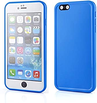 Amazon Com Kasuki Water Resistant Waterproof Phone Cases For Iphone Xs Max Xr X 10 7 8 Plus 6 6s 5s Se Silicone Case Candy Colors Coque Color Blue Material For 6plus 6splus Electronics