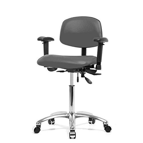 Dr 19 Gunmetal Wheel (Top Medical Multi-task Chair with Adjustable Armrests, Seat Tilt and Chrome Base 19