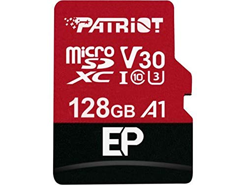Patriot Memory PEF128GEP31MCX 128 GB EP A1 Tarjeta microSD SDXC para teléfonos Android y tabletas/grabación de vídeo 4K