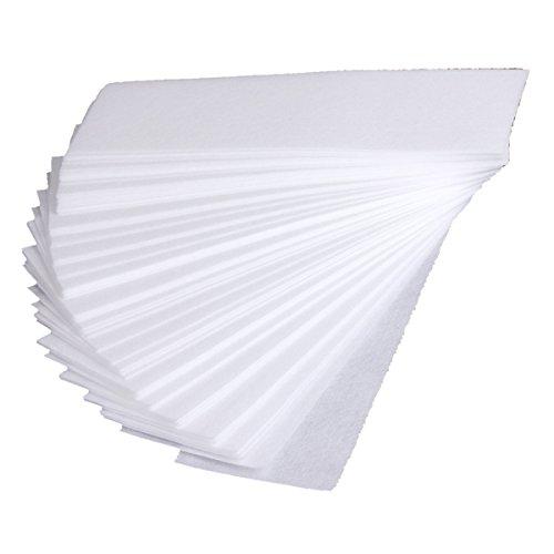 SODIAL(R) Leg Hair Removal Wax Strip Paper Depilatory white Nonwoven Epilator 20*7cm