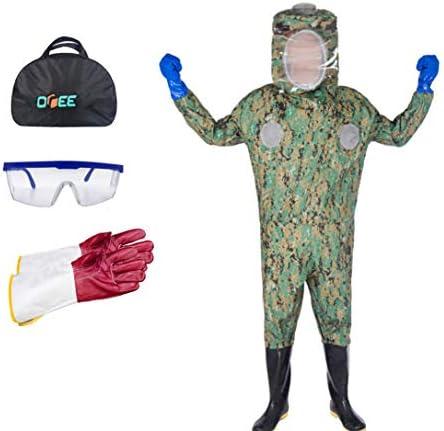 養蜂スーツ/養蜂保護、ベール付き養蜂服、作業服 - 養蜂場、養蜂場、農場および養蜂家のため,Camouflage-S