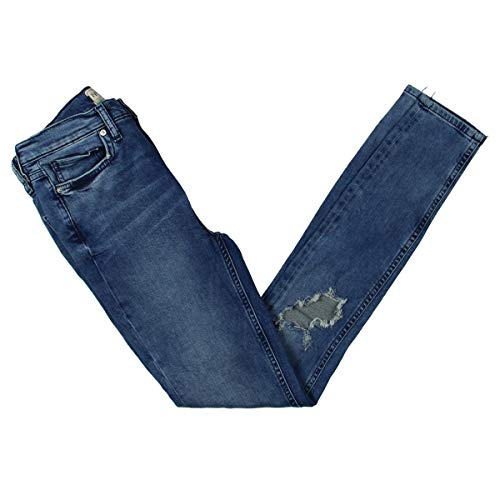 Free People Womens Ripped Whisker Wash Skinny Jeans Blue 25 from Free People
