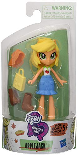 My Little Pony Equestria Girls Fashion Squad Applejack 3-inch Mini Doll with Removable Outfit, Boots, and Accessory, for Girls 5+ ()