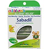 Boiron Children's Sabadil, 1 Pack (2, 80-pellet Tubes), Homeopathic Children's Medicine for Allergies