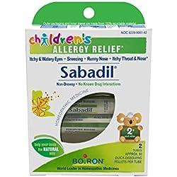 Boiron Children's Sabadil, 2 Count, Homeopathic Children's Medicine for Allergies