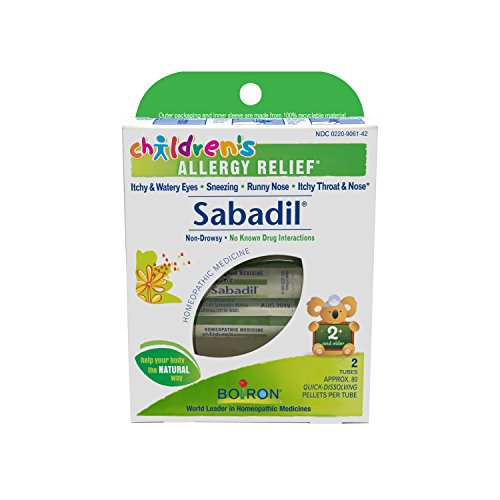 Boiron Children's Sabadil,2 Tubes (80 Pellets per Tube), Homeopathic Medicine for Allergy Relief
