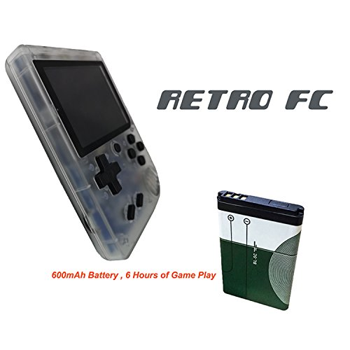 Handheld Game Console, 3 Inch 168 Classic Games Retro FC Game Console, Birthday Parent for Children - Transparent White by Biospirit (Image #2)