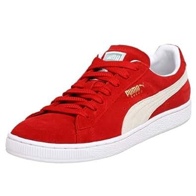 PUMA Suede Classic Sneaker,Red/White,14.5 M US Women's/13 M US Men's