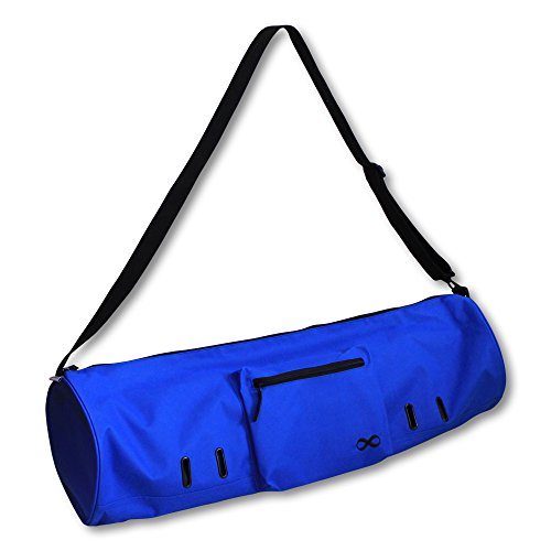 YogaAddict Yoga Mat Bag 'Compact' With Pocket, 28″ Long, Fit Most Mat Size, Extra Wide, Easy Access – Blue For Sale