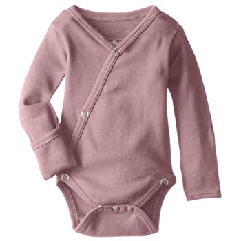 L'ovedbaby baby-girls Unisex Child Natural Kimono Bodysuit