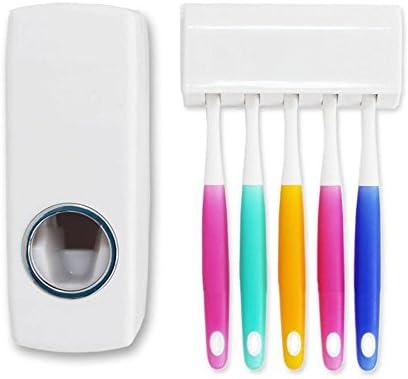 Umiwe Dispensador de pasta de dientes (5 cepillos) con adhesivo de doble cara sin perforación de pared