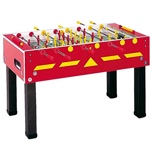 Garlando G-500 Red Weatherproof Foosball Table with Safety Telescopic Rods and Abacus Scorers....