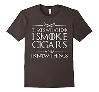 Mens Smoke Cigars Smoker Shirt - Ideal Classy Clever Men Gift Medium Asphalt