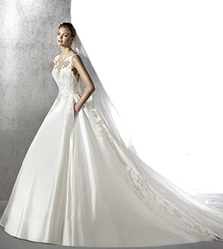 Gogh White FINAL SALE SAMPLE Truly Zac Posen Strapless Satin Wedding Dress Size US8 by Gogh