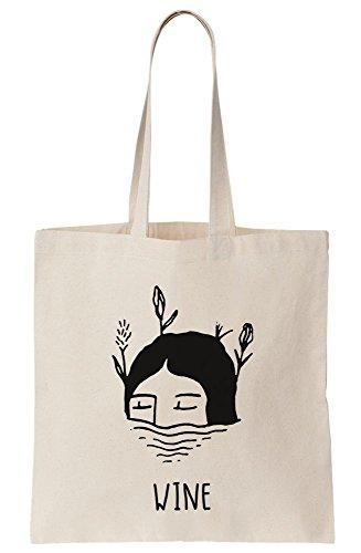 Wine Composition Girl Canvas Bag Dreamy Tote Y8Yxgrw