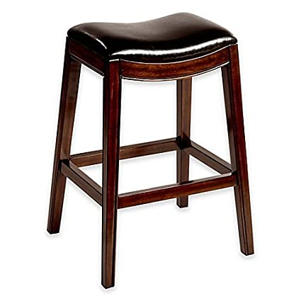 Amazoncom Kenton Wood 30 Inch Backless Bar Stool In Espresso