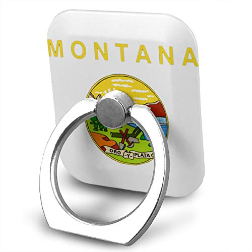 - Montana Flag Logo360 Degree Swivel Creative Ring Buckle Bracket Multi-Functional Ring Bracket