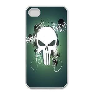 iphone4 4s Phone Case White Bloody The Punisher Skull Logo ZGC431414