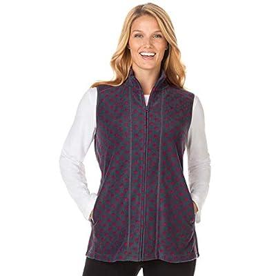 Woman Within Women's Plus Size Zip-Front Microfleece Vest at Women's Coats Shop
