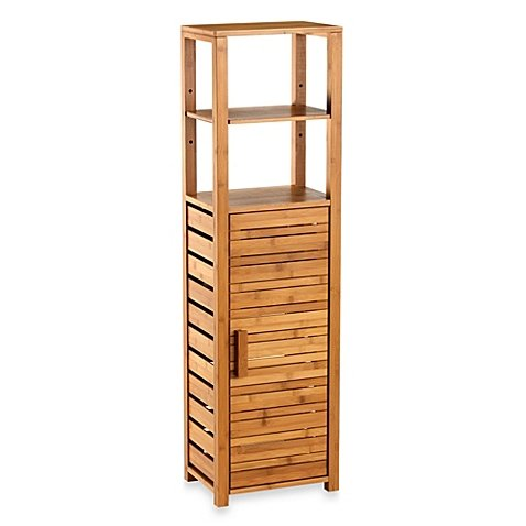 Bamboo Tall Bathroom Corner Vanity Floor Cabinet (Bathroom Bamboo Cabinet)