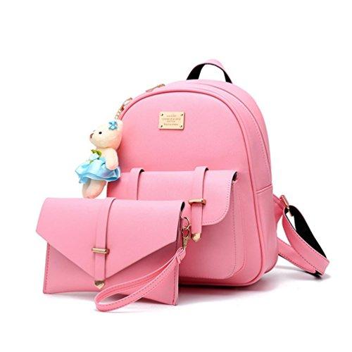 XibeiTrade - Bolso de Mochila niña Mujer Rosa
