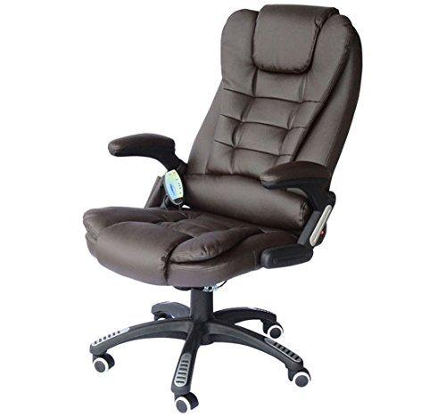 Stunning homcom u poltrona sedia da ufficio con in ecopelle marrone x with poltrona da ufficio - Poltrona ergonomica ikea ...