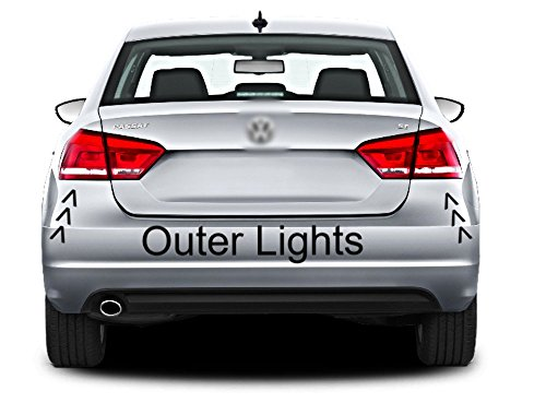 FITS 12-14 VOLKSWAGEN PASSAT LEFT & RIGHT SET TAIL LAMP QUARTER MOUNTED