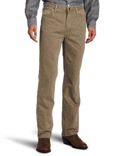 Wrangler Men's Cowboy Cut Slim Fit Western Jean,Trail Dust,36x30 - Mens Brown Wrangler