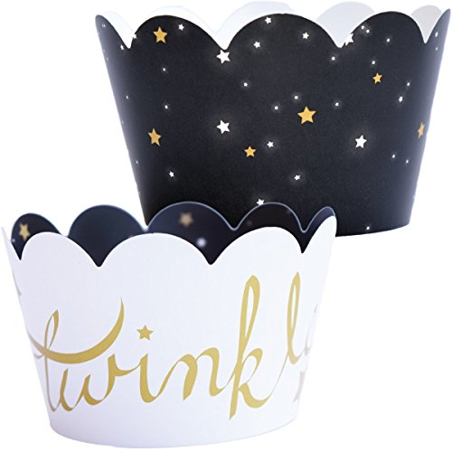 - Twinkle Twinkle Little Star Decorations - 36 Gender Reveal Cupcake Wrappers, Outer Space Theme Birthday, Baby Shower Decor, Solar System Classroom B-Day Treats, Starry Night Slumber Party Supplies