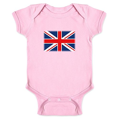 Union Jack Flag Pink 12M Infant Bodysuit (Pink Union Jack)