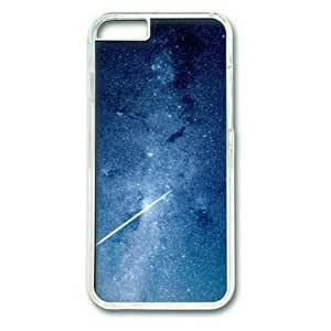 iPhone 6 Case,PC Hard Shell Transparent Cover Case for iPhone 6(4.7Inch) Star Night Space Blue Galaxy Nature by Sallylotus by runtopwell