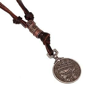 Lin @ G # collar–Colgante de collar–de piel–para Diario/Casual