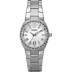 Fossil Women's AM4141 Serena Silver-Tone Stainless Steel Watch with Link Bracelet
