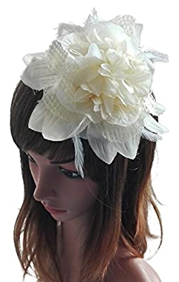 Removable Fascinators Hair Clip Head Hoop Headband Brooch Flower Derby Party Wedding