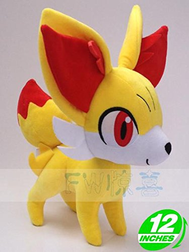 "Plush New Pokemon Fennekin Stuffed TOY Doll Figure 12""high"