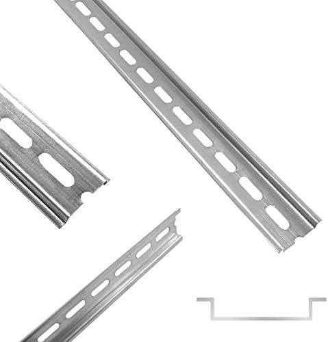 Arli Hutschiene 35 X 7 5 X 200 Mm Gelocht Stahl Verzinkt Für Verteilerschrank Schaltschrank Einbau Din Hutschiene Montageschiene Tragschiene Profilschine 1 Stück Schiene Baumarkt