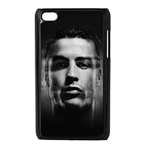 iPod Touch 4 Case Black Cristiano Ronaldo Amazing Face Rocks Soccer T7I0ST